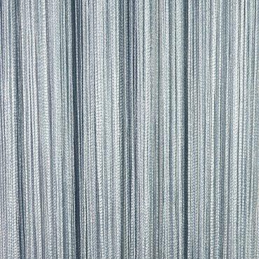 Кисея нитяная штора на кулиске серебро - Серая