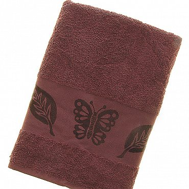 Полотенце Cotton Butterfly, коричневый 70*140