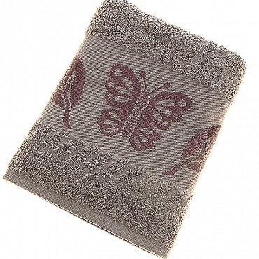 Полотенце Cotton Butterfly, серый 50*90