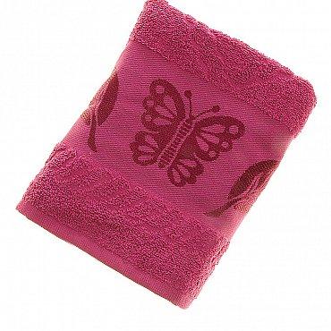 Полотенце Cotton Butterfly, малиновый 50*90