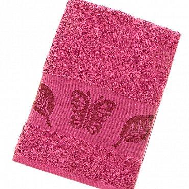 Полотенце Cotton Butterfly, малиновый 70*140