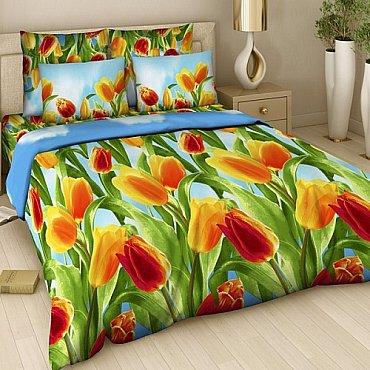 """Комплект постельного белья """"Тюльпаны"""" 315 (семейное)"""