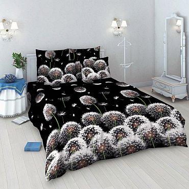 """Комплект постельного белья """"Белые одуванчики"""" 3412 (евро)"""
