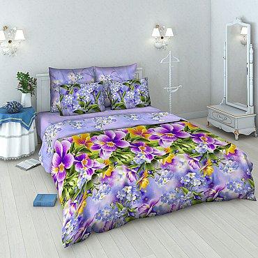 """Комплект постельного белья """"Фиалки"""" 3925 (евро)"""
