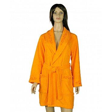 Халат женский Мила, Оранжевый, р. S (44)