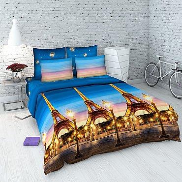 """Комплект постельного белья """"Эйфелева башня"""" 4079 (евро)"""