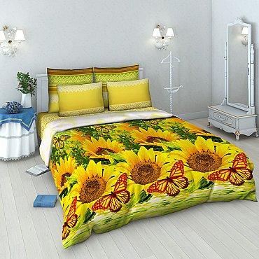 """Комплект постельного белья """"Подсолнухи"""" 4274 (евро)"""