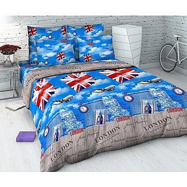 """Комплект постельного белья """"Британские каникулы"""" 4298 (семейное)"""