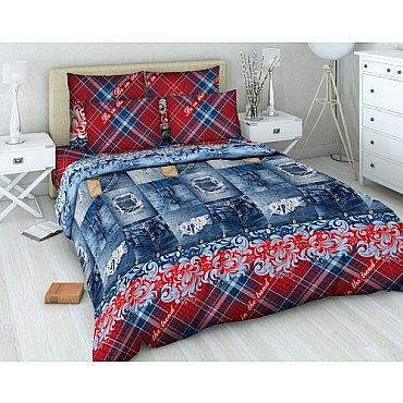 """Комплект постельного белья """"Шотландка"""" 4355 (1.5 спальное)"""