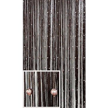 Кисея нитяная штора на кулиске однотонная Galaxy - T. Шоколад