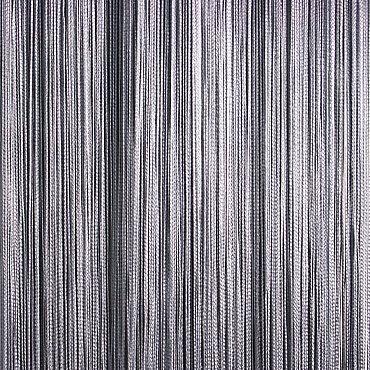 Кисея нитяная штора на кулиске однотонная - Серая