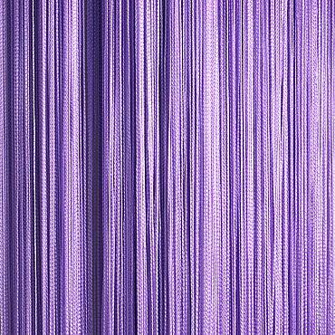 Кисея нитяная штора на кулиске однотонная - Сиреневая