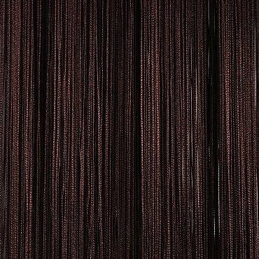 Кисея нитяная штора на кулиске однотонная - Темный шоколад