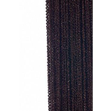 Кисея нитяная штора на кулиске облака - Темный шоколад