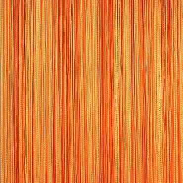 Кисея нитяная штора на кулиске однотонная - Оранжевая