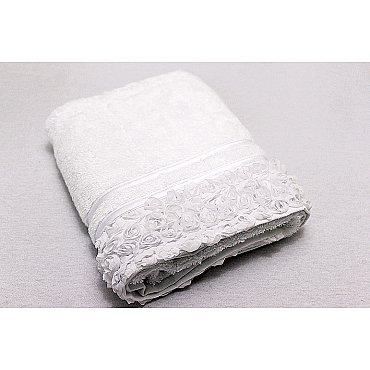 Полотенце Roses, белый 50*90