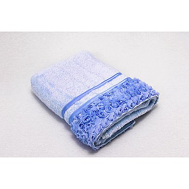 Полотенце Roses, голубой 50*90