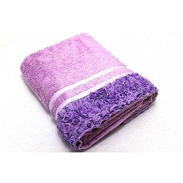 Полотенце Roses, фиолет 50*90