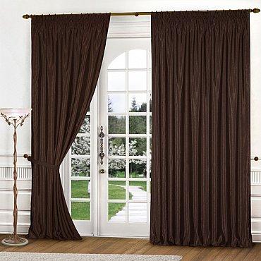 Комплект штор К301-1, темно-коричневый, 150*240 см