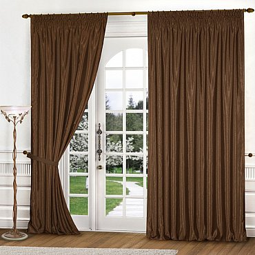 Комплект штор К301-2, коричневый, 250*260 см