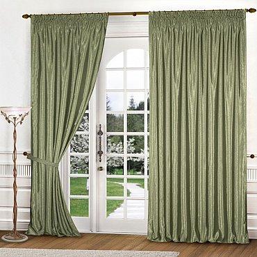 Комплект штор К301-4, оливковый, 300*270 см