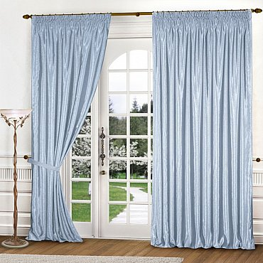 Комплект штор К301-7, голубой, 250*270 см