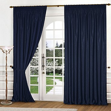 Комплект штор К301-8, синий, 300*250 см