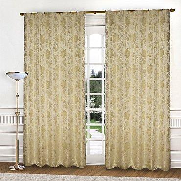 Комплект штор К322-1, кремовый, 145*280 см