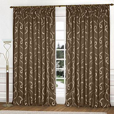 Комплект штор К326-42, коричневый, 250*240 см