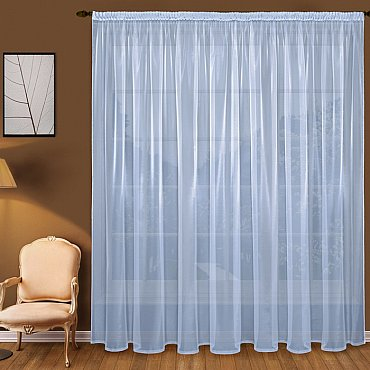 Тюль вуаль T101-8, голубой, 300*250 см
