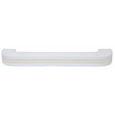 """Карниз потолочный пластиковый поворотный """"Акант"""", 3 ряда, белый, 400 см"""