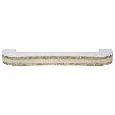 """Карниз потолочный пластиковый поворотный """"Акант"""", 2 ряда, краке, 220 см"""