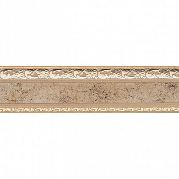 """Карниз потолочный пластиковый без поворота """"Гранд"""", 2 ряда, бронза, 300 см"""