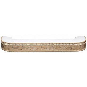 """Карниз потолочный пластиковый поворотный """"Гранд"""", 2 ряда, бронза, 140 см"""