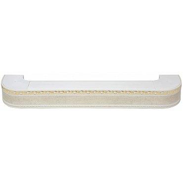 """Карниз потолочный пластиковый поворотный """"Гранд"""", 3 ряда, краке, 280 см"""