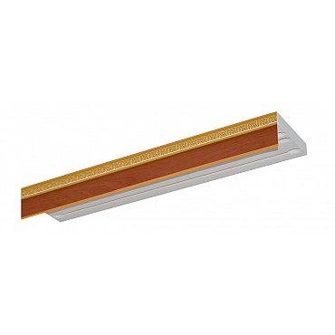 """Карниз потолочный пластиковый без поворота """"Греция"""", 3 ряда, груша, 320 см"""