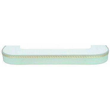 """Карниз потолочный пластиковый поворотный """"Греция"""", 3 ряда, белый, 180 см"""