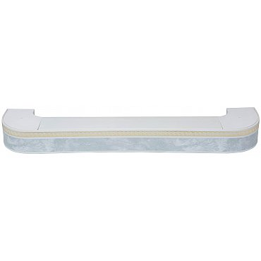 """Карниз потолочный пластиковый поворотный """"Греция"""", 3 ряда, белый мрамор, 140 см"""