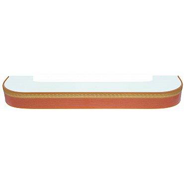 """Карниз потолочный пластиковый поворотный """"Греция"""", 3 ряда, бук, 140 см"""