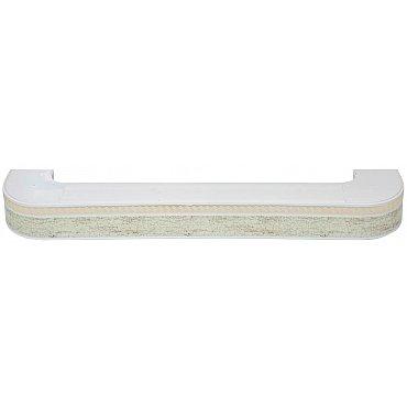 """Карниз потолочный пластиковый поворотный """"Греция"""", 2 ряда, краке, 220 см"""