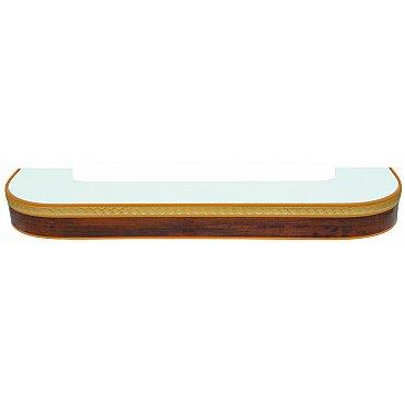 """Карниз потолочный пластиковый поворотный """"Греция"""", 3 ряда, орех бежевый, 180 см"""
