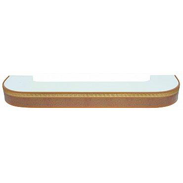"""Карниз потолочный пластиковый поворотный """"Греция"""", 2 ряда, песок, 300 см"""