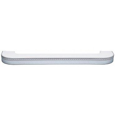 """Карниз потолочный пластиковый поворотный """"Греция"""", 3 ряда, серебро, 200 см"""