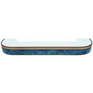 """Карниз потолочный пластиковый поворотный """"Греция"""", 2 ряда, синий, 360 см"""