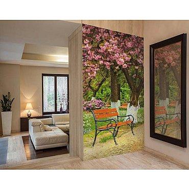 """Фотофреска на стену живопись """"Вишневый сад"""", 130*270 см"""