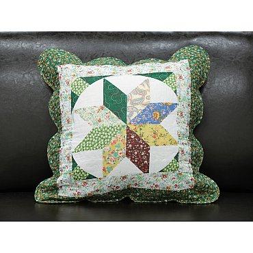 Наволочка Provance, Белый, Зеленый, 45*45 см