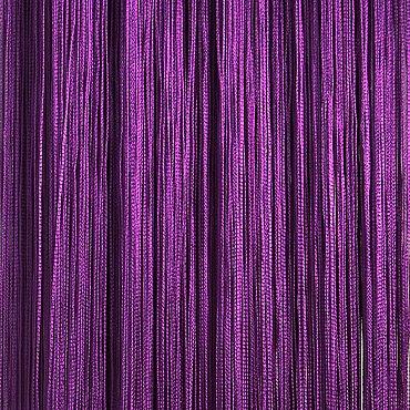 Кисея нитяная штора на кулиске однотонная - Фиолетовая