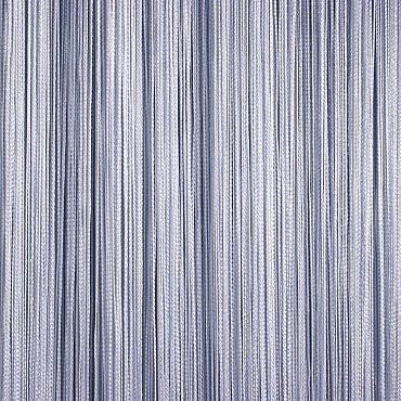 Кисея нитяная штора на кулиске однотонная - Серебро