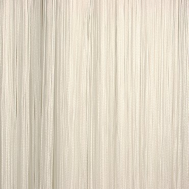 Кисея нитяная штора на кулиске однотонная - Белая