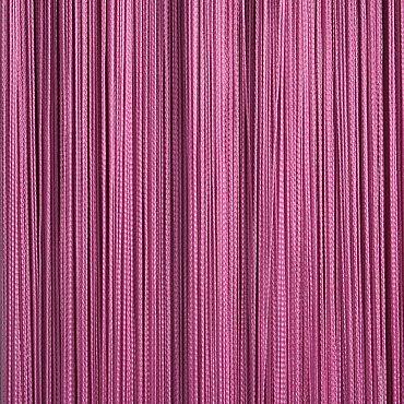 Кисея нитяная штора на кулиске однотонная - Фуксия